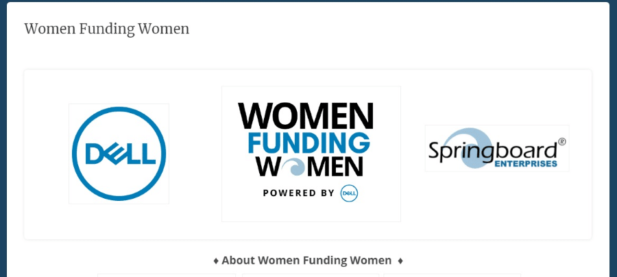 Dell EMC Springboard Enterprises Women Funding Women