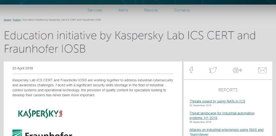 Kaspersky Lab ICS Fraunhofer IOSB