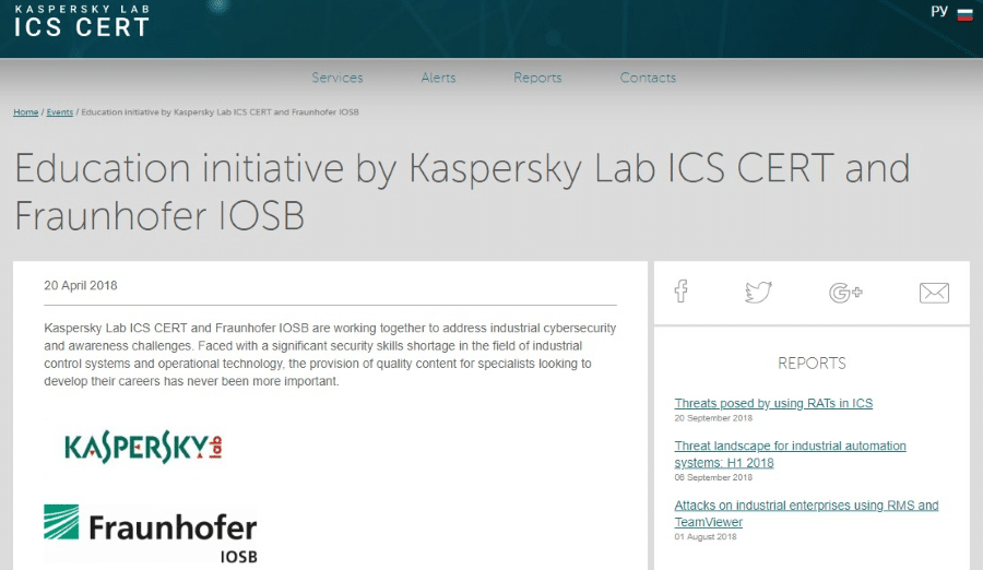 Kaspersky Lab ICS Fraunhofer IOSB