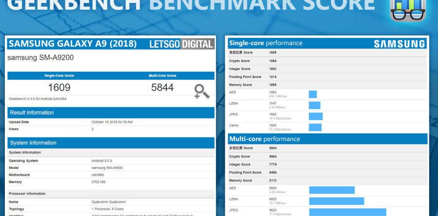 Lets Go Digital Geekbench Galaxy A9