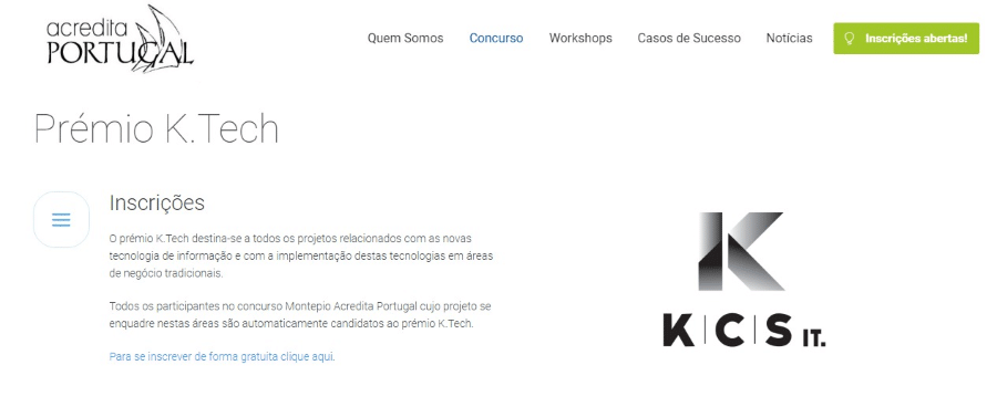 Prémio K Tech Acredita Portugal