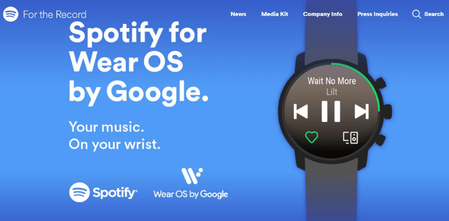 Spotify Wear OSSpotify Wear OS