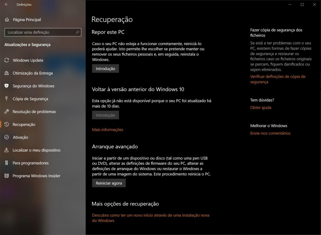 2.Reposicao do Windows