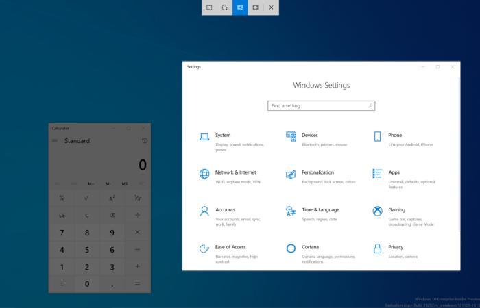 Ferramenta de recorte, Windows 10
