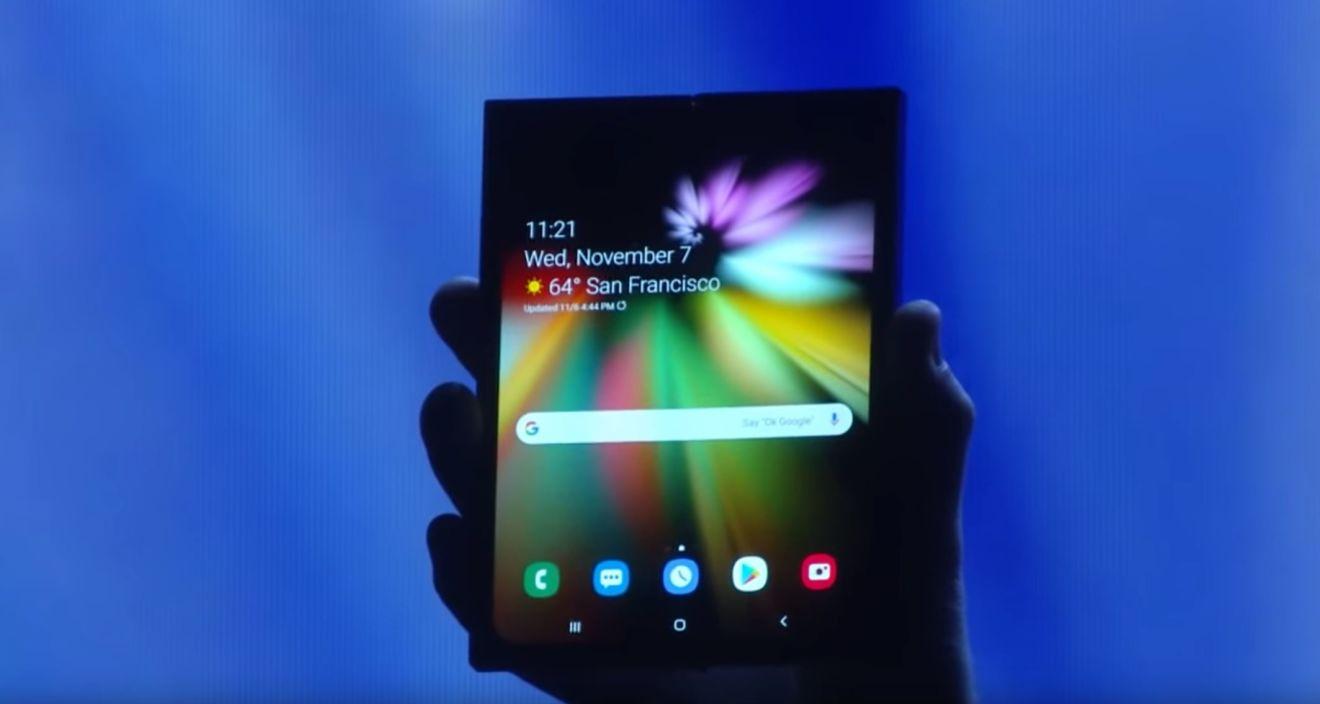Samsung apresenta o seu conceito para um smartphone com ecrã dobrável
