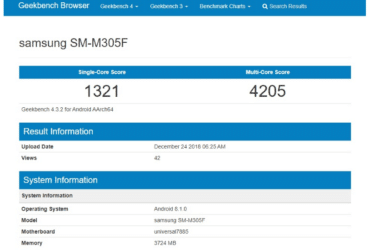 Geekbench Samsung SM-M305F