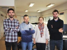 Investigadores Daniel Canedo, António Neves, Alina Trifan, Ricardo Ribeiro