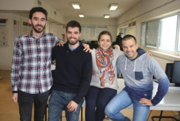 Investigadores Daniel Canedo, Ricardo Ribeiro, Alina Trifan e António Neves