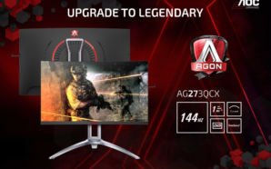 Novos monitores curvos AOC AGON 3 a caminho das lojas