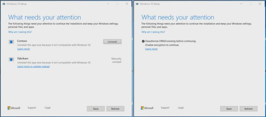 Novas mensagens de erro Windows