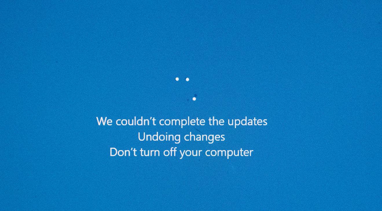 Erro actualização Windows