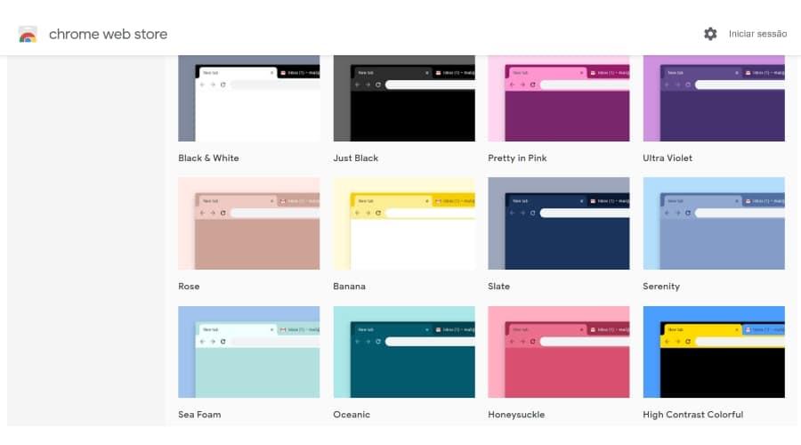 Google Chrome Temas
