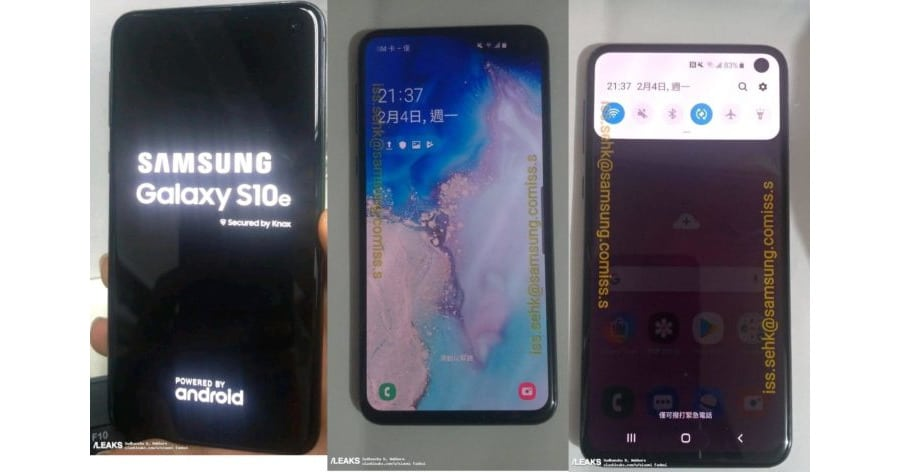 Slashleaks Galaxy S10e