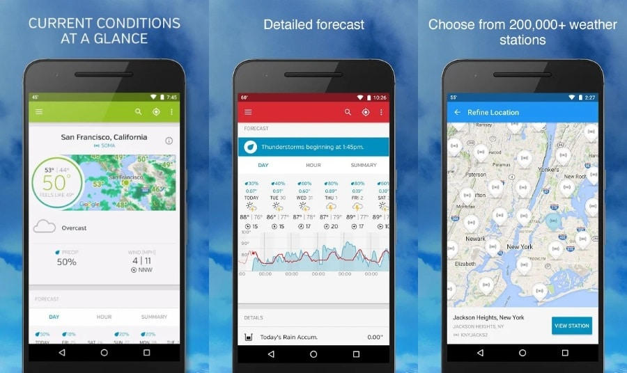 Weather Underground Android