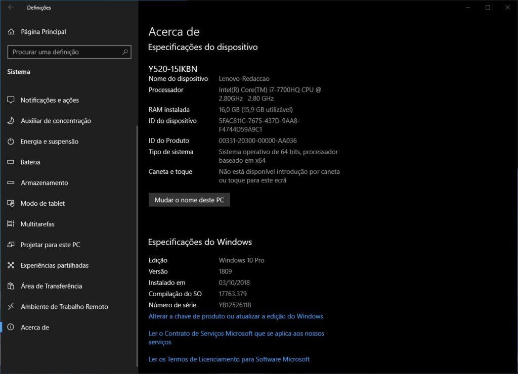 Acerca de Windows 10