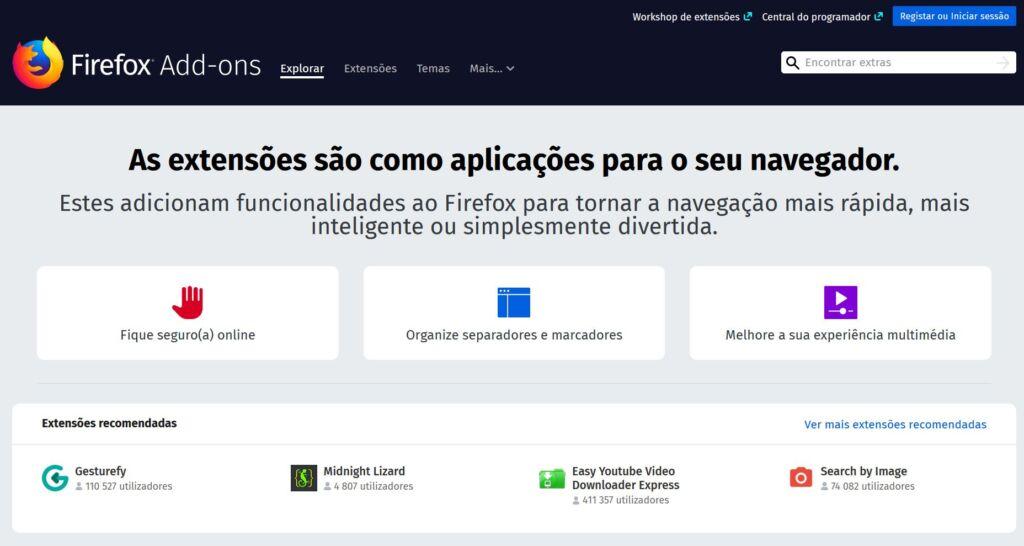Extensões-Firefox
