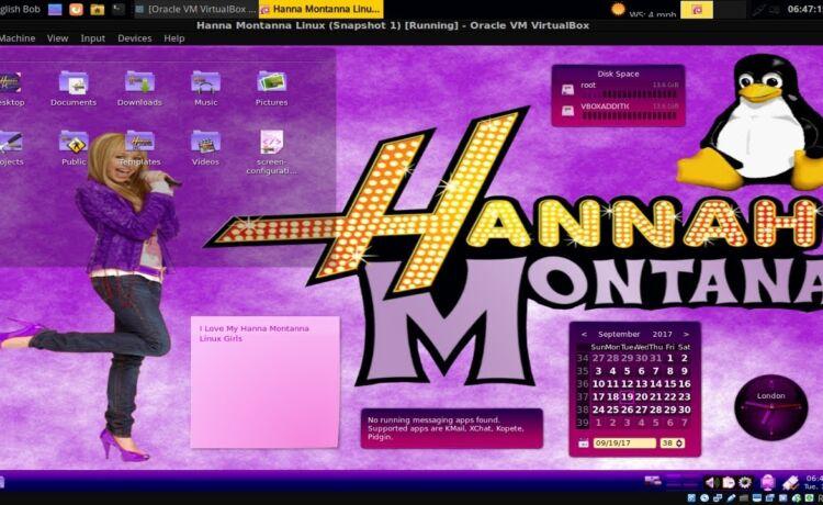 Hannah Montana Linux