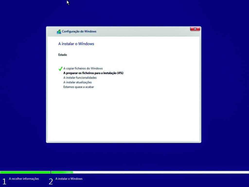 Instalar Windows - Instalação