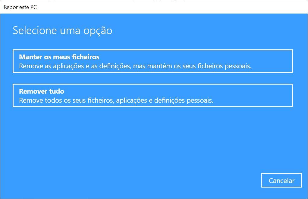 Reposição Windows 2