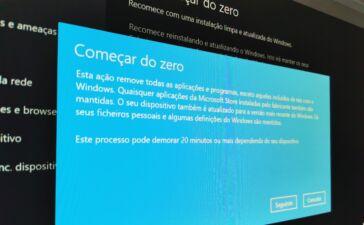Reposição Windows 10