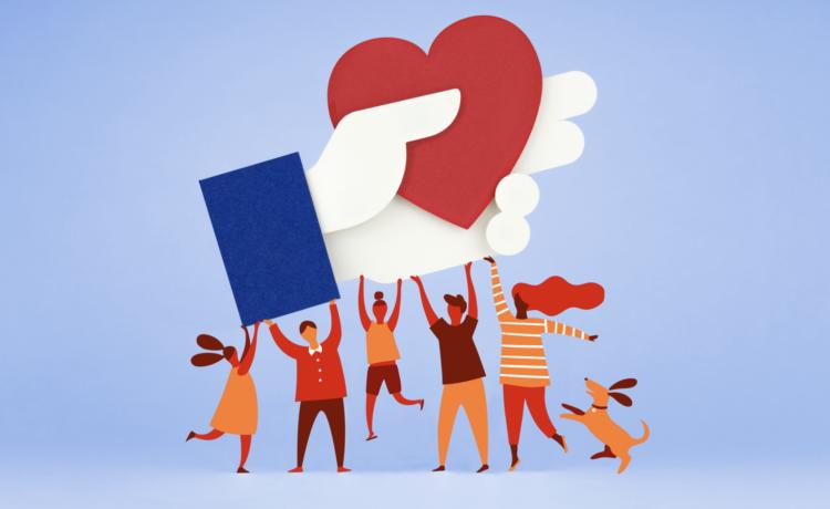 O Facebook criou as angariações de fundos em 2015. @Facebook