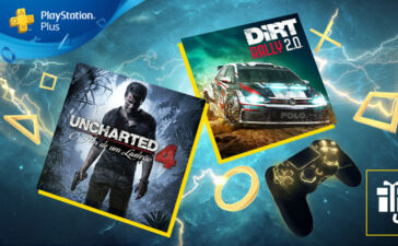 Uncharted 4 e DiRT 2.0 estão em Abril no PS Plus, em Abril.