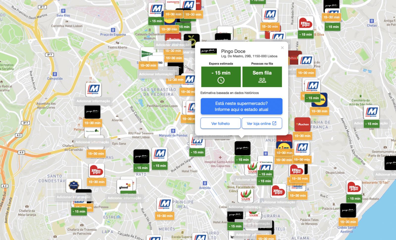 A Onde há Fila? não é uma app. @Tiendeo