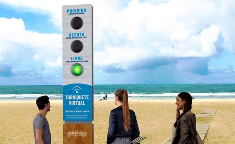 Semáforo para Praias ©Smart City Sensor