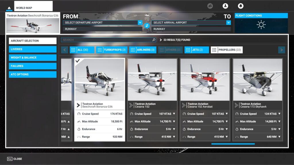 Aviões a Hélice Microsoft Flight Simulator