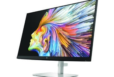 HP U28 4K HDR Monitor_NaturalSilver_ScrnSS_CoreSet_FrontLeft