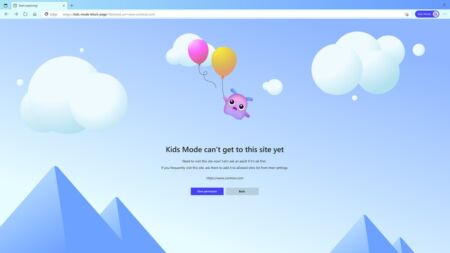 kids-mode-blocked-site